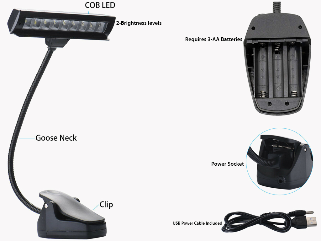 Led Clip On Usb Aa Battery Operated Light Long Island Dart Supplies